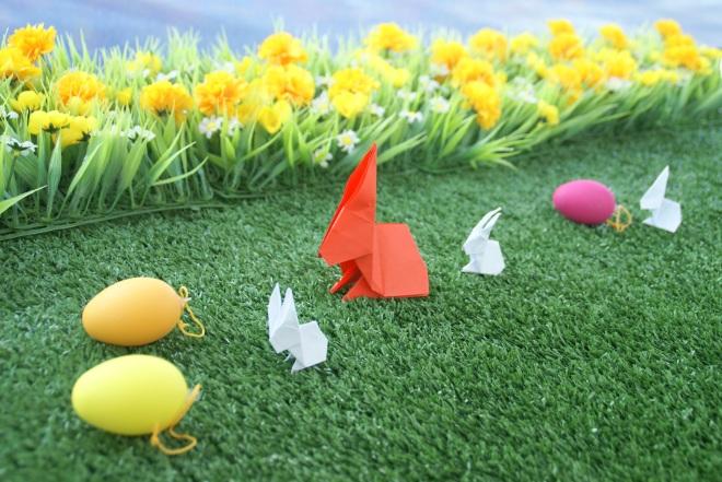 coelhinhos em origami